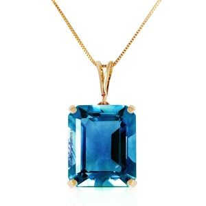 NECKLACE WITH OCTAGON BLUE TOPAZ